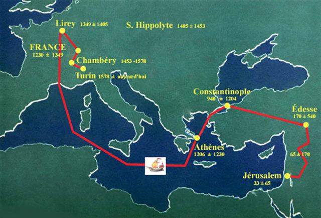 Avant qu'il arrive à Turin, l'histoire du linceul est mouvementée !